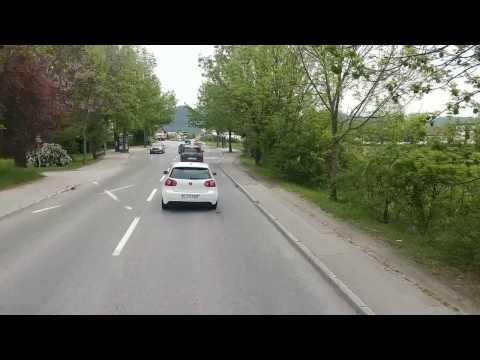 Holowanie auta rowerem.